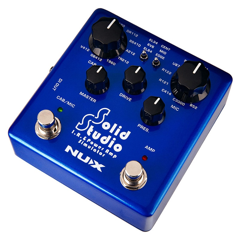 NUX Solid Studio IR Power Amp Simulator Guitar Multi Effects Pedal Dual Footswitch Built-in 8 Cabinet 8 Microphone True Bypass enlarge