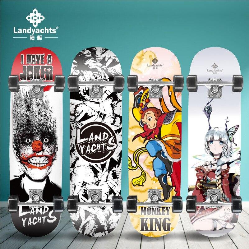 Внедорожный скейтборд для начинающих, скейтборд с двойным рокером, трашер, Уличный Скейтборд, грузовики для дрифта, коньки Gyroroue, Спорт на от...