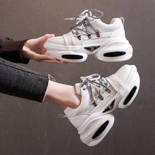 New Sneakers Women Platform Shoes Basket Femme Fashion Breathable lightweight Ladies Vulcanized Shoe