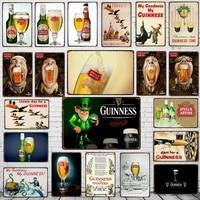 Guinness signes Detain En Metal Plaque En Metal Vintage Barre Murale Maison Art Retro Artisanat Decor de Cinema 30X20CM DU-5805A