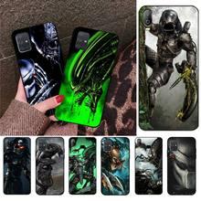 HPCHCJHM Alien Vs Predator TPU noir housse de téléphone coque pour Samsung A10 A20 A30 A40 A50 A70 A80 A71 A51 A6 A8 2018