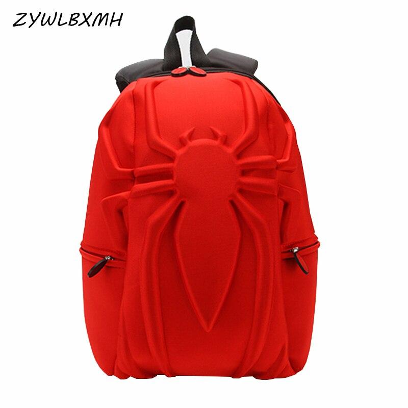 ZYWLBXMH 3D estereoscópica hombre araña bolsa de la escuela Marvel mochila colegial para niños niño de la escuela mochila bolso sırt çantası