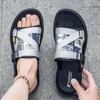 wear resisting outdoor slippers mens home summer mens men slides sandals beach ventilation indoor for high quality