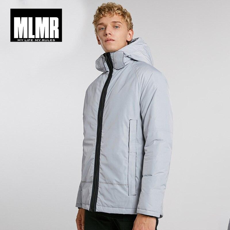 MLMR winter mens  versatile hooded stand collar windproof warm cotton jacket   218309529