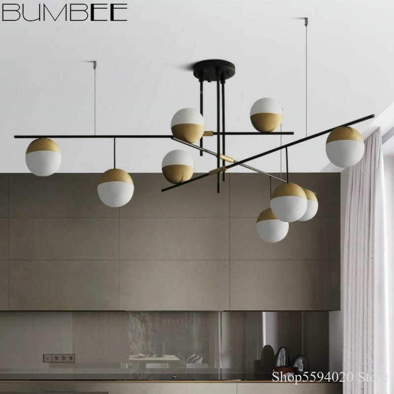Luces de Lámpara de bola de cristal con tuerca de diseño, lámpara colgante de lujo para sala de estar, iluminación Led suspendida para decoración del hogar
