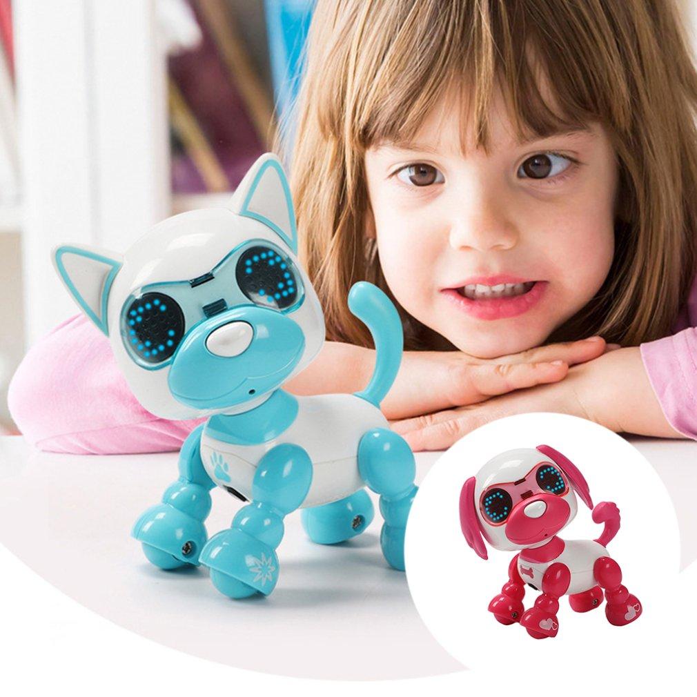 Крутой робот-собака, игрушка для детей, умный интерактивный, Гуляющий со звуком, щенок, светодиодная запись, обучающий умный электронный роб...