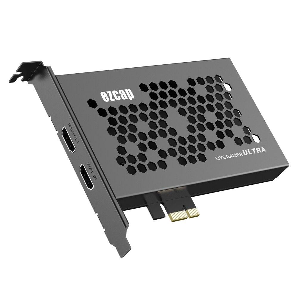 الترا HD 2160P 60fps HDR 1080p 240fps المحلية حلقة 4K 30 1080P 120FPS PCIE فيديو بطاقة التقاط الصوت والفيديو HDMI سجل صندوق لعبة بث مباشر