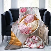 cute 3d printing ice cream flannel blanket sheet bedding soft blanket bed cover home textile decoration blanket