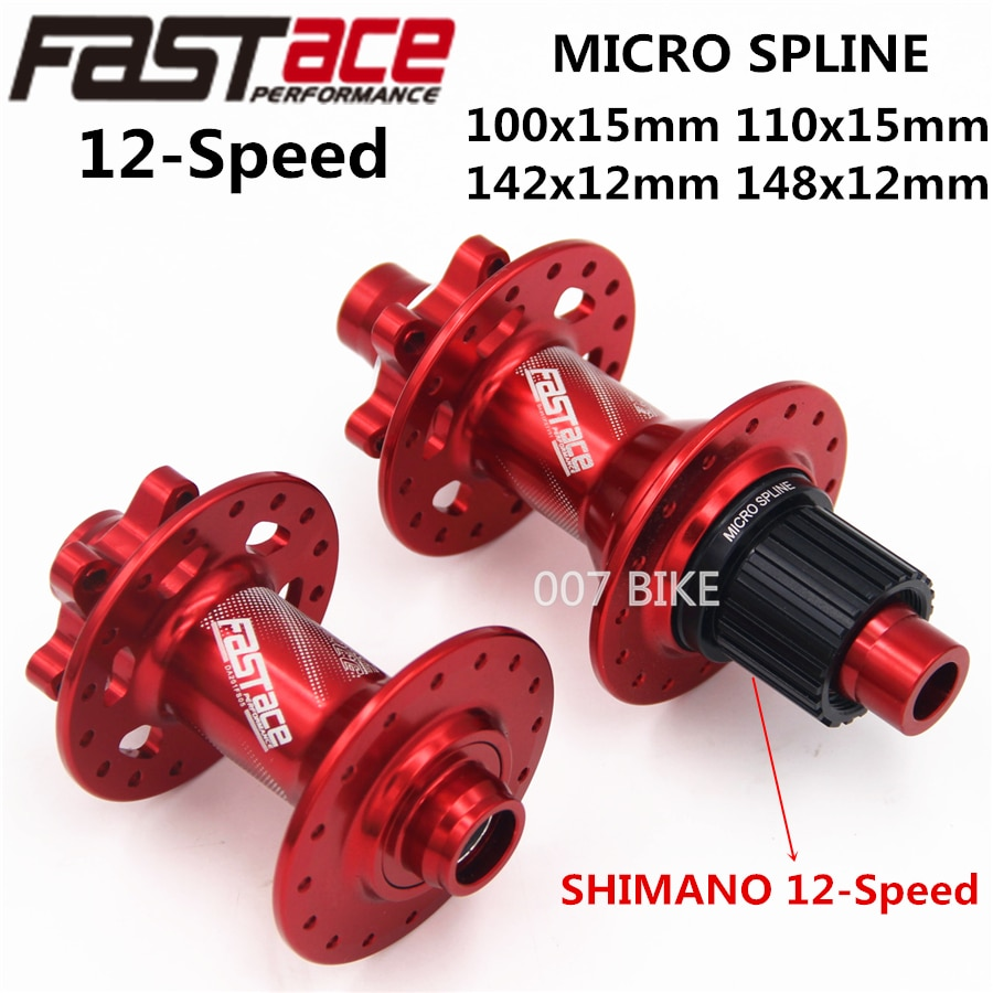 FASTACE DA201 F/R XT M8100 M7100 FH BH Centro 32H 100x15mm 110x15mm 142x12mm 148x12mm E-THRU eje bicicleta 12 Velocidad MICRO SPLINE HUB