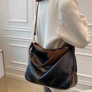 Soft Leather Casual Shoulder Bags for Women Large Capacity Crossbody Travel Shopper Bag Ladies Open Big Tote Handbag Sac a Main