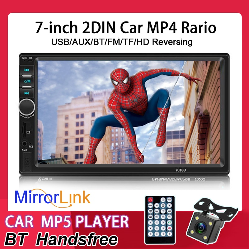 2 DIN 7 inch Autoradio Car Radio stereo video FM/MP5/MP4/USB/AUX //Bluetooth radio Mirror Link For Andriod(Not beyond Version 8) 7 hd touch screen 12v car stereo player 7010b car radio autoradio mp5 fm bluetooth mirror link 2 din car radio stereo receiver