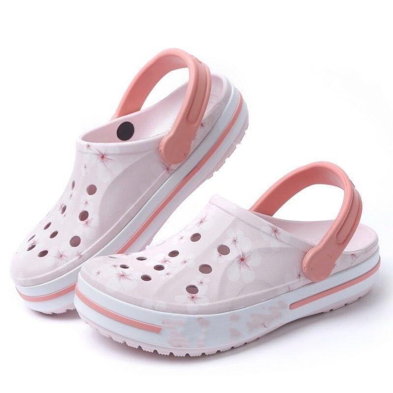 OLOMM Crocses 2021 Women Slides Slippers Sandals Shoes Fashion Nurse Leisure Sandy Beach Loves Coupl