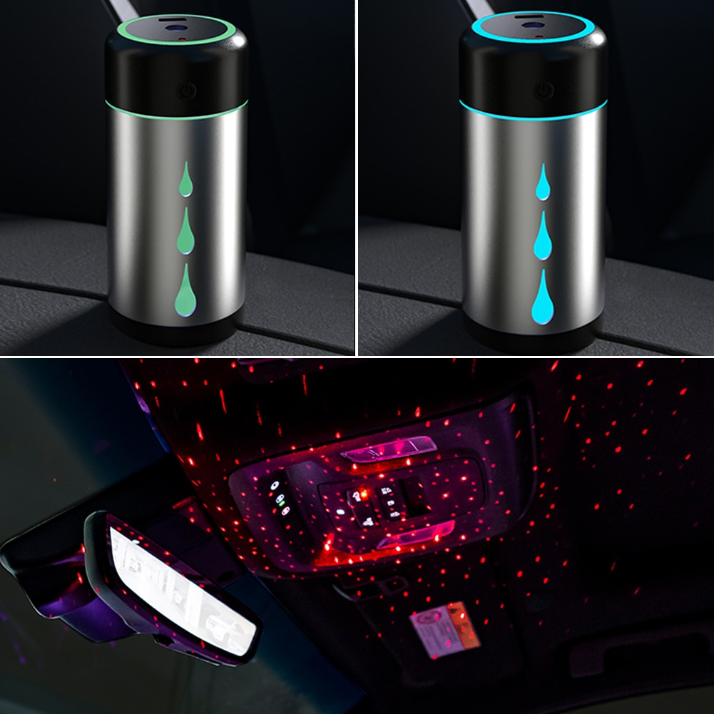 Car Humidifier Air Purifier Starry Sky Light Projector USB Mini Humidifier Air Atomization Essential Oil Aromatherapy Diffuser glorystar seven colors aromatherapy essential oil diffuser ultrasound atomization mini desktop humidifier household bedroom