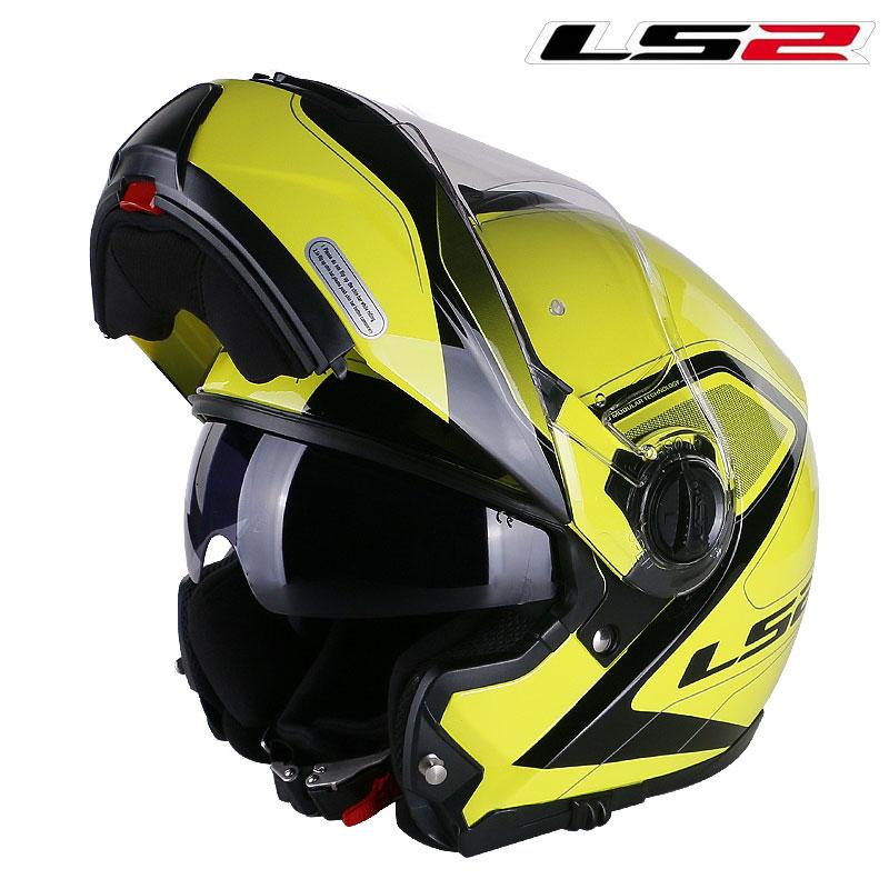 وصل حديثًا LS2 FF325 وحدات خوذة الدراجات النارية rcycle خوذة قابلة للطي خوذة كاسكو موتو كابايتي ls2