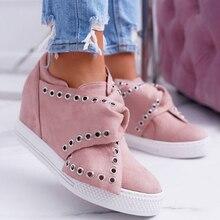 Femme chaussures décontractées augmenter les chaussures De plate-forme De renforcement dans les baskets supérieures chaussures pour dames tennis à semelles compensées Zapatos De Mujer
