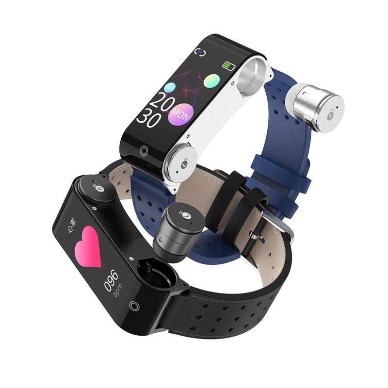 3 in1 Smart Watch Men Earbuds Temperature Sensor TWS Bluetooth 5.0 Earphones Smartwatch Sports Heart
