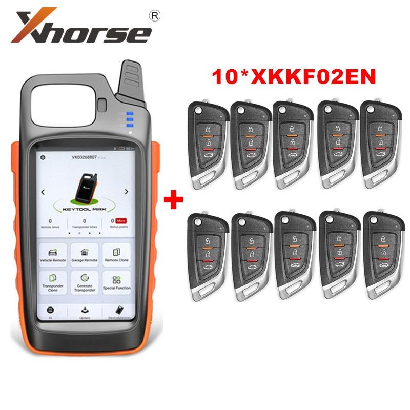 Xhorse VVDI مفتاح أداة ماكس عن بعد ومولد رقاقة مع 10 قطعة مفاتيح XKKF02EN العالمي عن بعد الحصول على وظيفة مجانية ID48 96bit