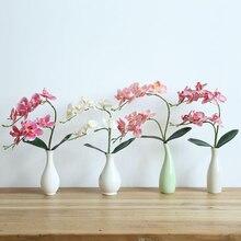Latex Gefälschte Blume Phalaenopsis Orchidee Blumen Real Touch Künstliche Schmetterling Orchideen Stem Anlage Mittelpunkt Silikon Blumen 4