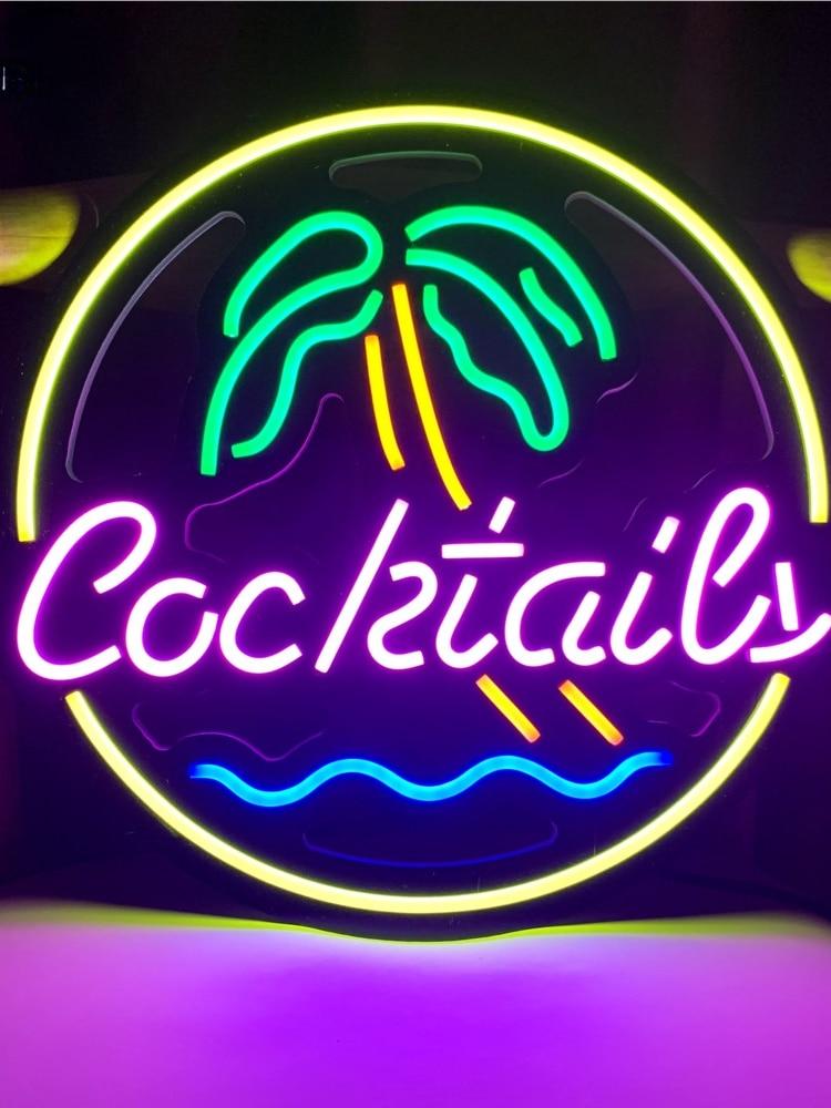 Custom led neon lights, handmade beer bar, store logo, bar, nightclub