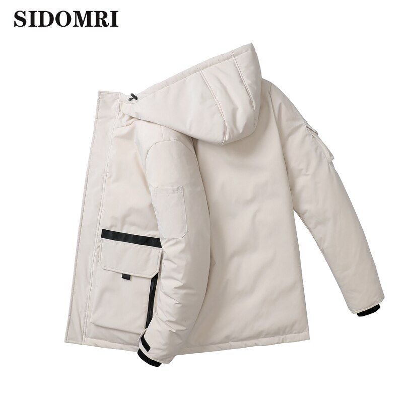 Couple  winter jacket 90% white duck down coat hooded down jacket glossy color clothing thick warm men and women loose coat large real fur collar women winter coat thick warm hooded down jacket duck down loose long outwear coat outdoors