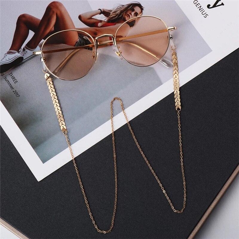 Fashion Pearl Mask Chains Glasses Chain For Women Retro Metal Sunglasses Lanyards Eyewear Cord Holde