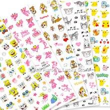 Anime Lijm 3d Nail Sticker Folie Voor Nagels Kunst Decoratie Leuke Cartoon Ontwerpen Nail Stickers Manicure Levert Gereedschap