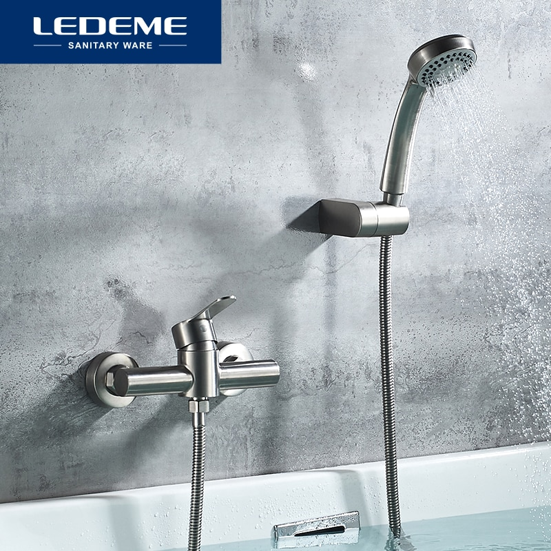 LEDEME-صنبور من الفولاذ المقاوم للصدأ لحوض الاستحمام ودش الحمام والحوض ، L72003