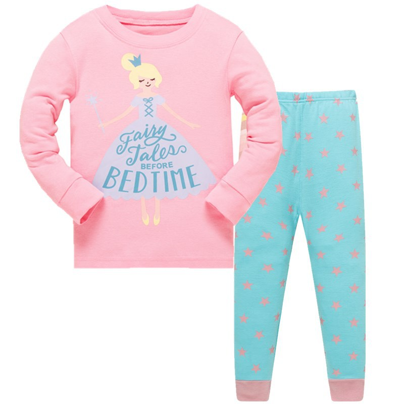 New Kids Girls Pajamas Sets Princess Pyjamas Pajama Infantil Sleepwear Home Clothing Cartoon Cotton Baby 3-8T