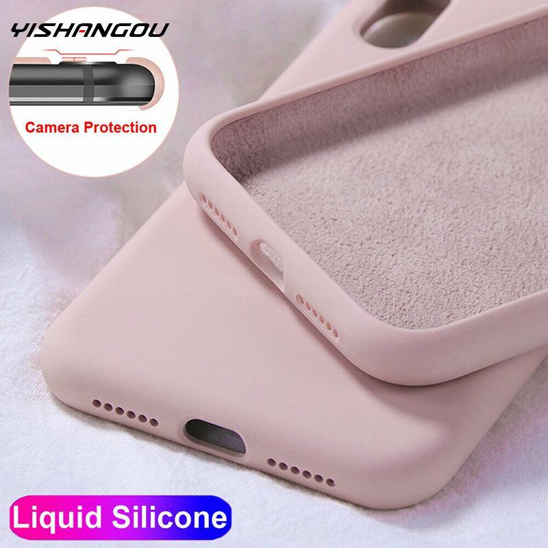 Чехол YISHANGOU для Apple iPhone 11 12 Pro Max SE 2 2020 6 S 7 8 Plus X XS MAX XR, милый мягкий силиконовый чехол ярких цветов для пар