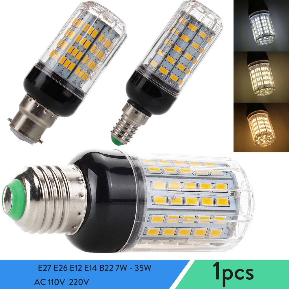 Светодиодный кукурузный Светильник лампы E27 E26 E12 E14 B22 7 Вт-35 Вт Высокое Мощность настольные лампы Точечный светильник s для домашние AC 110V 220V ...