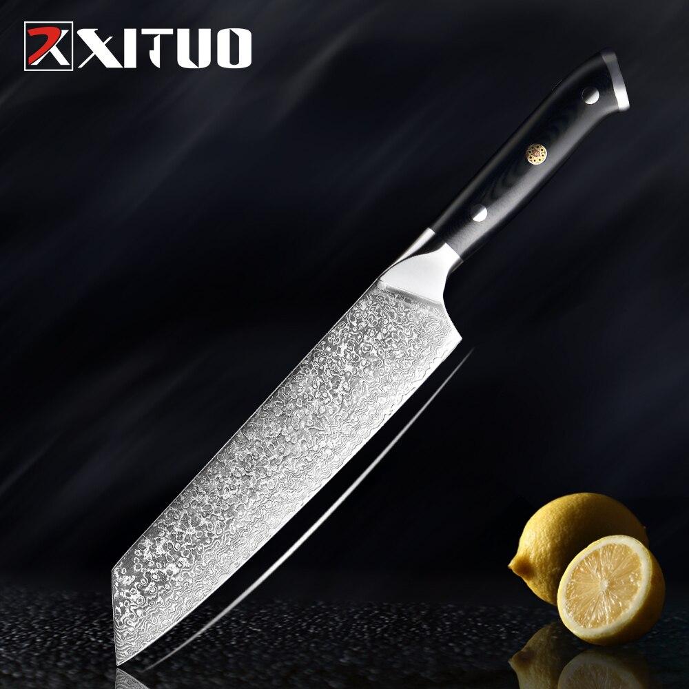 XITUO 8 zoll Damaskus Kiritsuke Messer Sharp 67 Schichten Japanischen VG 10 Schwarz G10 Griff Professionelle Küche Kochmesser Neue