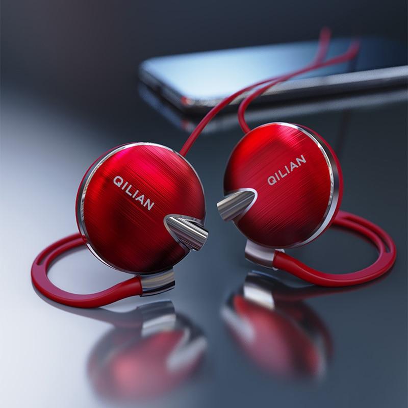 Q13 auriculares deportivos con gancho de oído estéreo para teléfono inteligente auriculares con micrófono de alta fidelidad para correr auriculares con Control de volumen