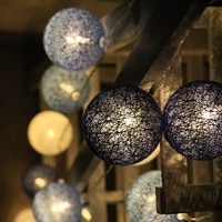 102040 led christmas string lights cotton ball party wedding kids room birthday party home garden loft decoration lights