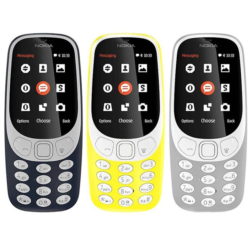 """Original Nokia 3310(2017) Dual Sim 2,4 """"2G GSM desbloqueado teléfono móvil 2017 llegada reacondicionado celular"""
