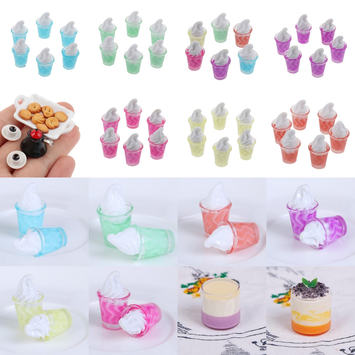 1/2/3/5/7/10pcs 1:12 Dollhouse Miniature Mini Food Drinks Bottles Model Dolls Kitchen Accessories Pretend Play Toy Gifts new