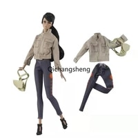 16 fashion khaki princess outfits for barbie doll clothes coat jacket top pants trousers 11 5 dollhouse accessories kids toys