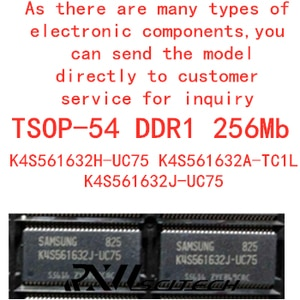 K4S561632J-UC75 K4S561632H-UC75 K4S561632A-TC1L  tsop54 256MB flash DDR SDRAM routing upgrade memory provides BOM allocation