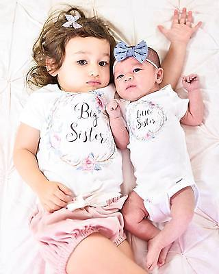 children clothes summer Baby Kids Girl Little Big Sister Match Clothes Jumpsuit Romper Outfits T Shi