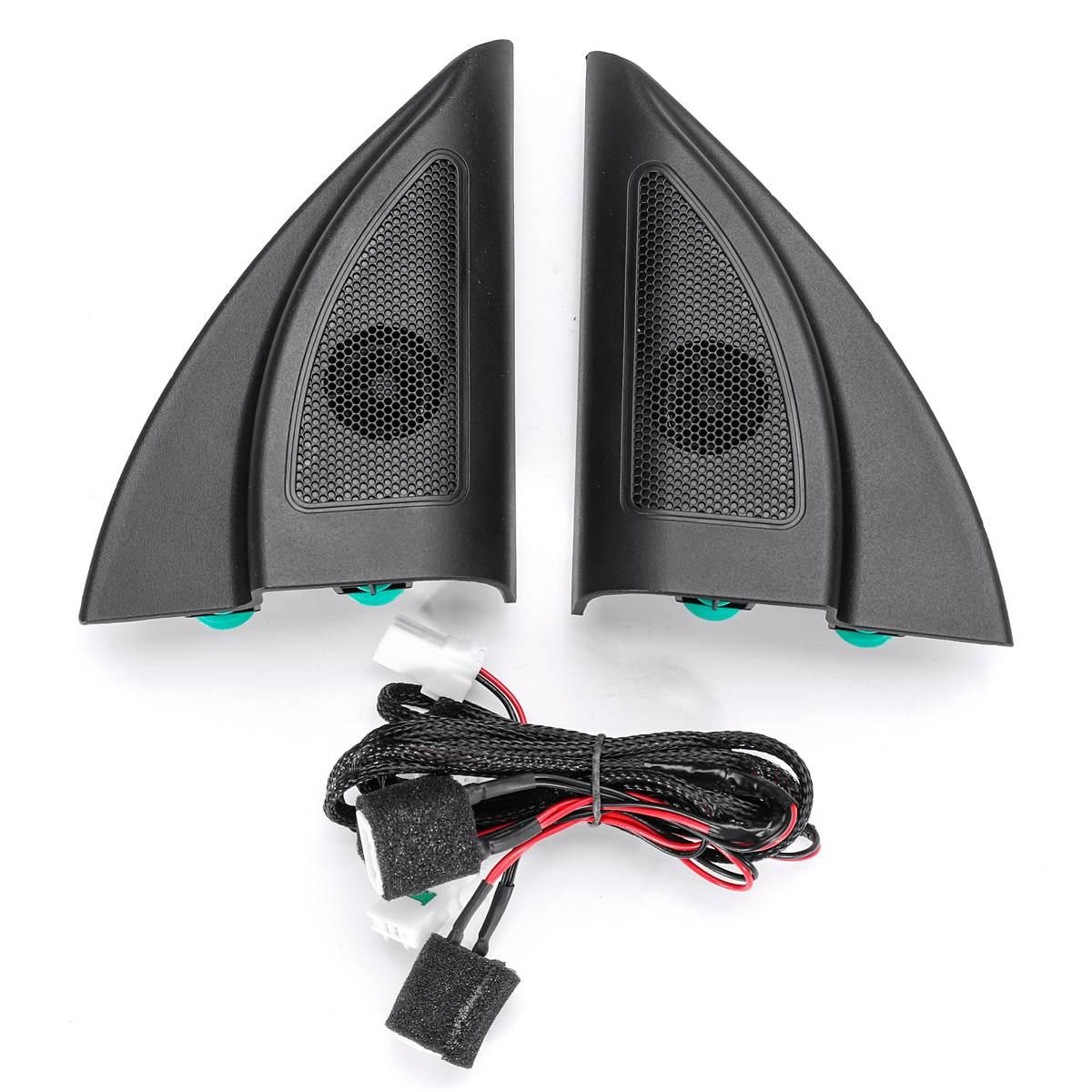 Altavoz negro de punta triangular delantera, altavoz Tweeter de coche, altavoz de trompeta de audio, Tweeter con cable para Solaris 2017