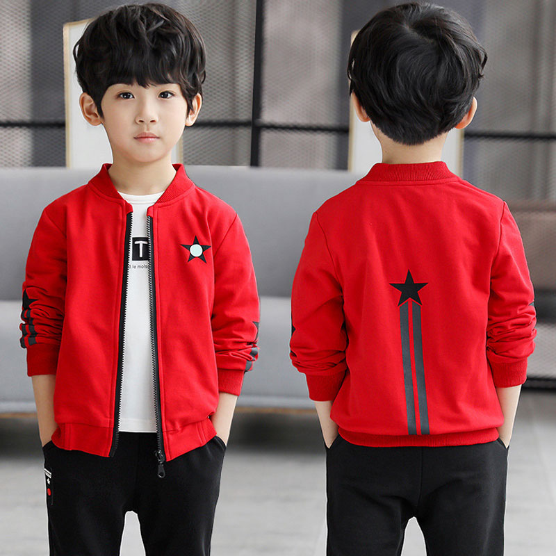 Baby Clothes Cartoon Pattern Stars Boys Jackets Coats 3-13year Kids Jacket Outwear Knitted Cotton Ch