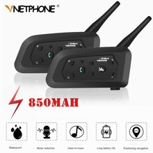 2 pièces V6 Moto Interphone Bluetooth casque casques pour 6 coureurs équipe Intercommunicador Moto Interphone 1200M Hi-Fi MP3 GPS