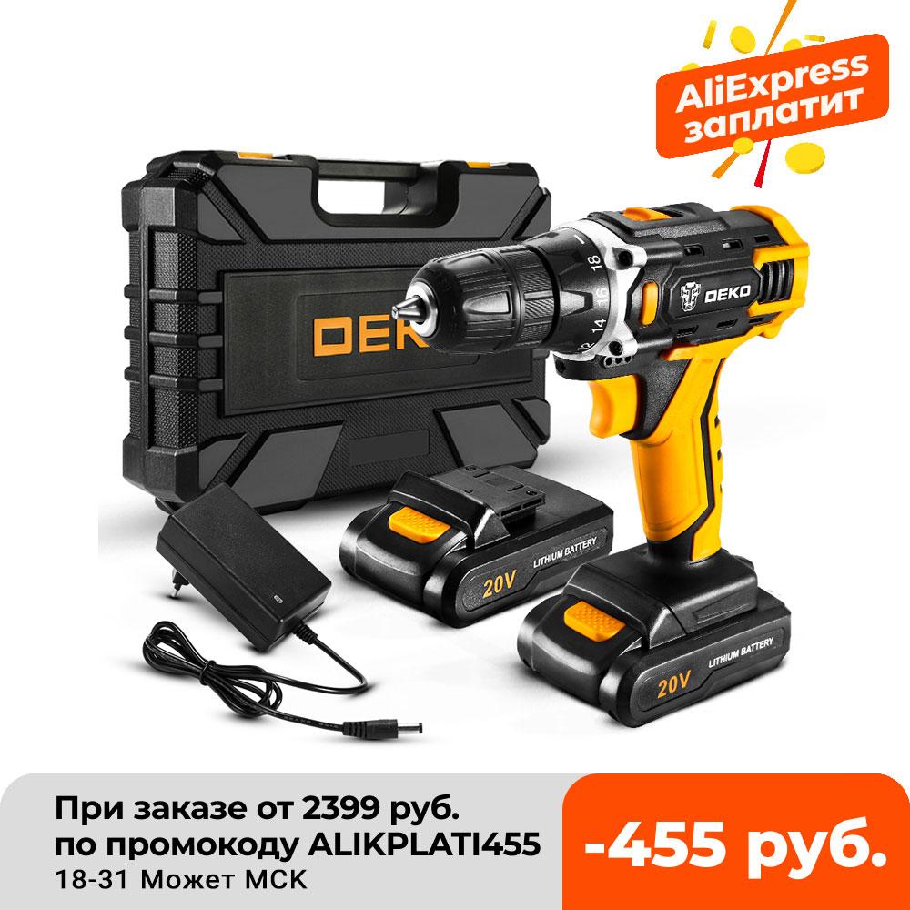 aliexpress.com - DEKO 12/16/20V MAX Cordless Drill Electric Screwdriver,18+1 Torque Settings,2-Speeds,3/8″ Keyless Chuck Power Tools(DKCD Series)