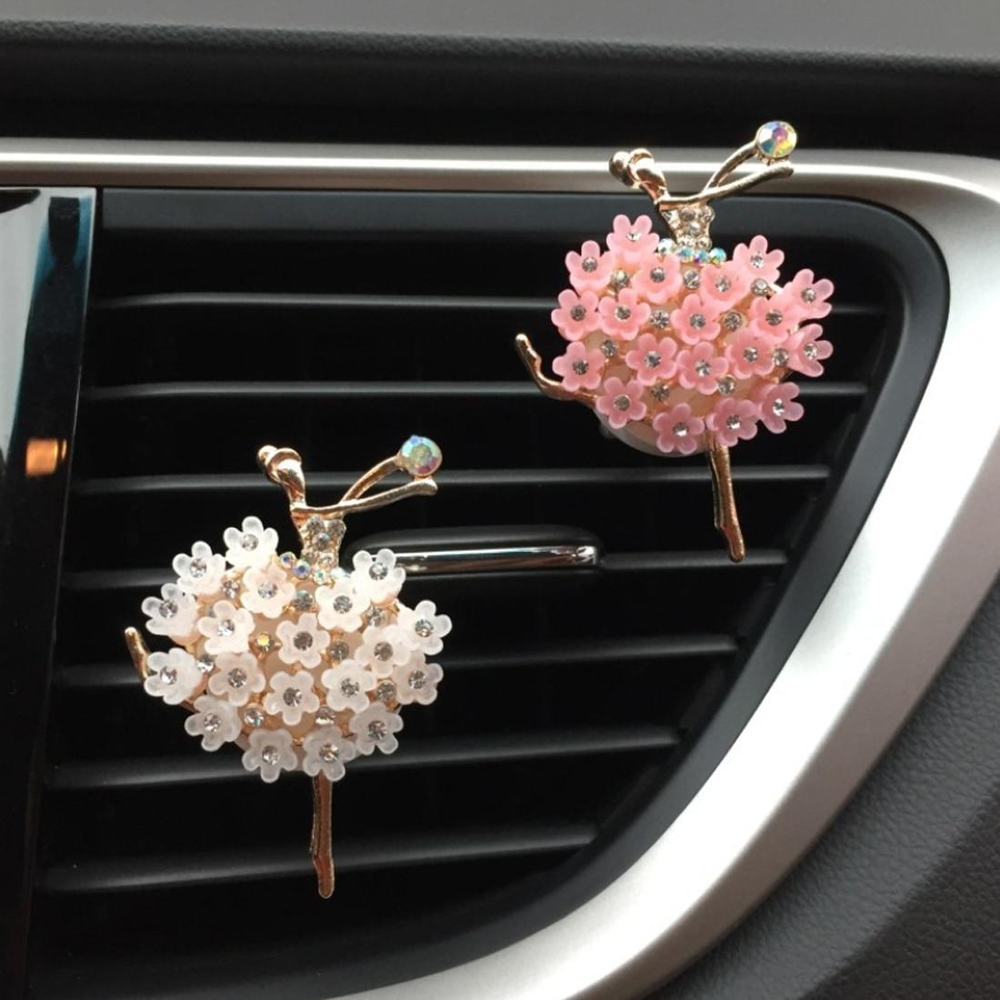 Car Aroma Diffuser Ballet Girl Car Air Fresheners Auto Perfume Car Air Outlet Clip Fragrance Flavori