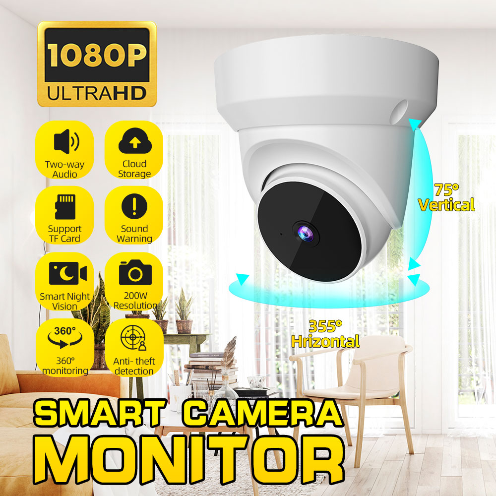 1080P H.265 Dome Pan Tilt WIFI AI IP Camera 360° Night Vision APP Control Moving Detection Home Security Camera Baby Monitor
