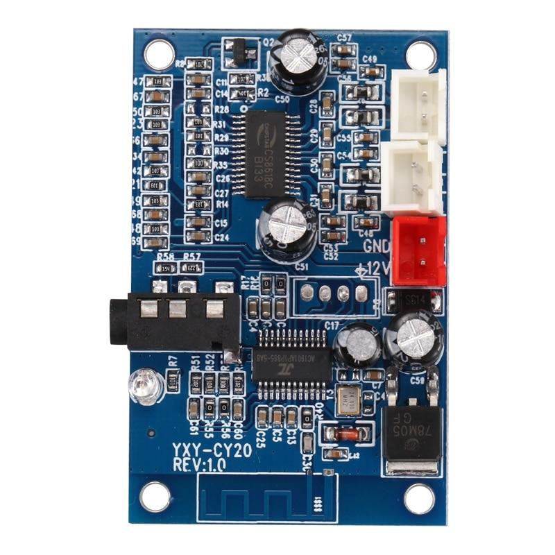 Amplificador con Bluetooth 4,2, dispositivo estéreo de dos canales, Ampliador AUX inalámbrico,...