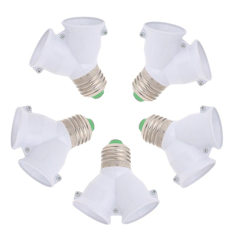 E27 To Double E27 Base Socket Extender Adapter Converter LED Light Лампа Лампа 652A