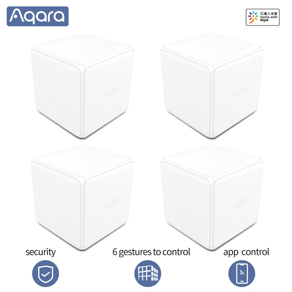 Aqara Magic Cube Controller Zigbee Version Controlled by Six Actions Gestures For Xiaomi Mijia Mihome Aqara app Smart home