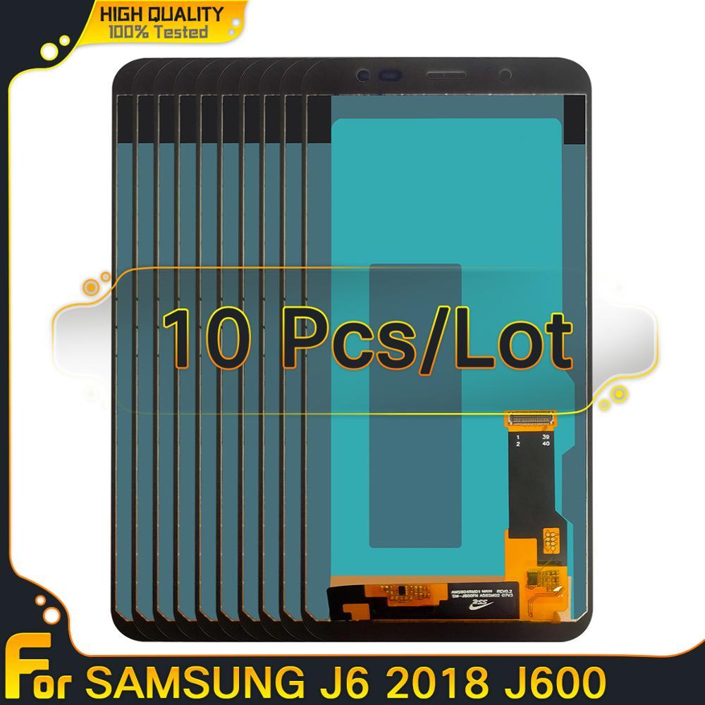Atacado 10 Pçs/lote TFT Tela incell Para Samsung Galaxy J6 2018 J600 J600F/J600G DS/DS Digitador Touch Screen Display LCD