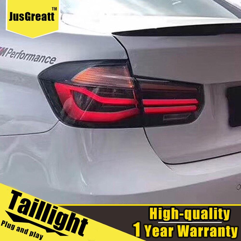 2 uds estilo de coche para BMW F30 2013 - 2017 luces traseras montadas todas las luces traseras LED + señal de giro dinámica + Luz de marcha atrás