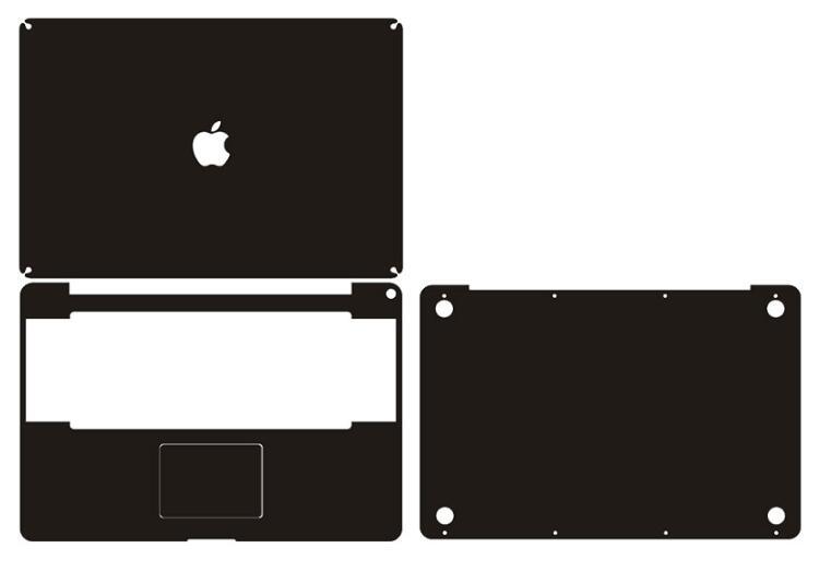 Fibra de Carbono Etiqueta do Portátil Capa da Pele Protetor para Apple Decalque Macbook Touch Bar A1706 A1708 A1989 A2159 Pro 13
